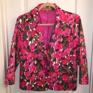Rose pattern blazer